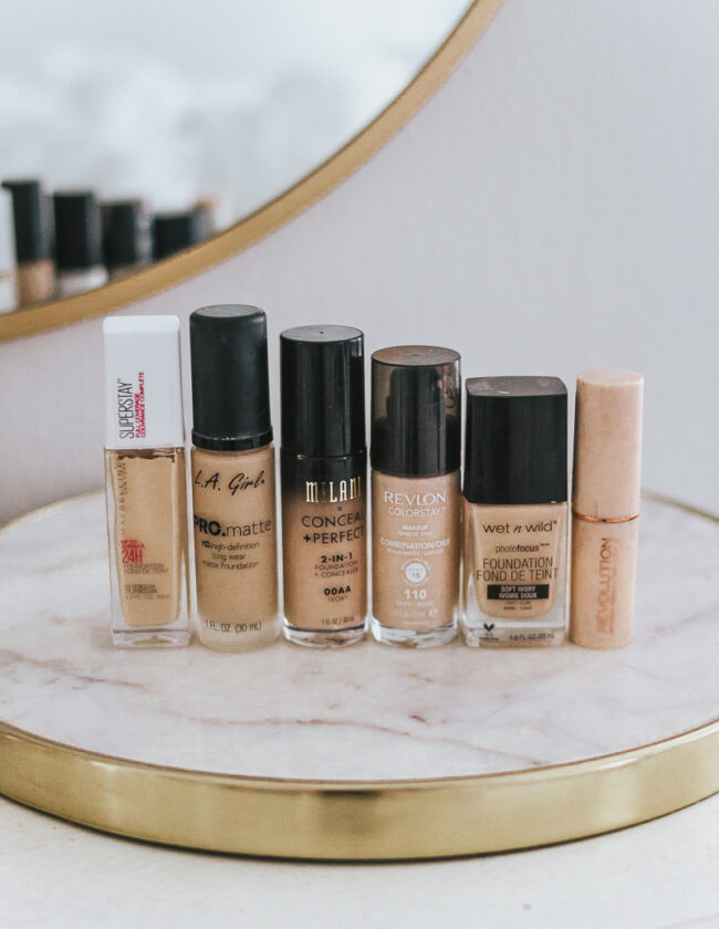 10 Great Full Coverage Drugstore Foundations