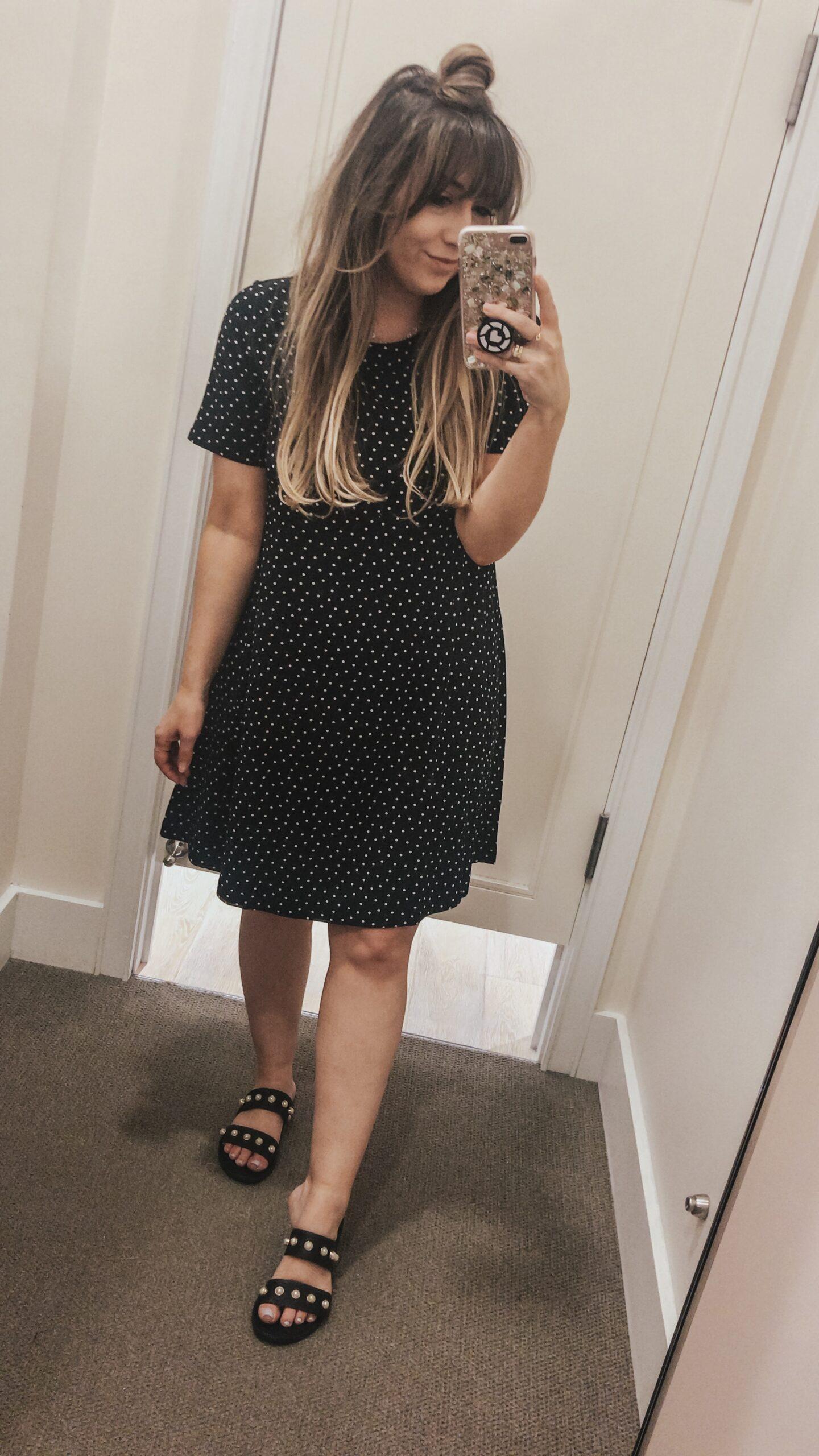 Polka dot tshirt dress