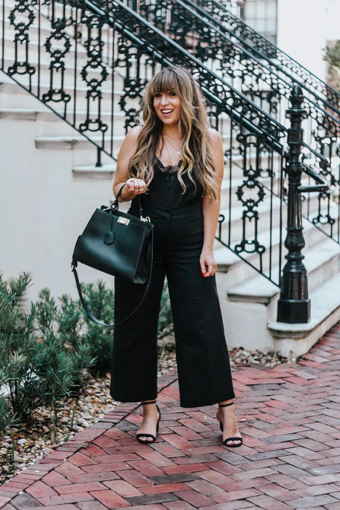 2 ways to style black wide leg crop pants – summer outfit ideas - wide leg crops - wideleg crops - wideleg pants