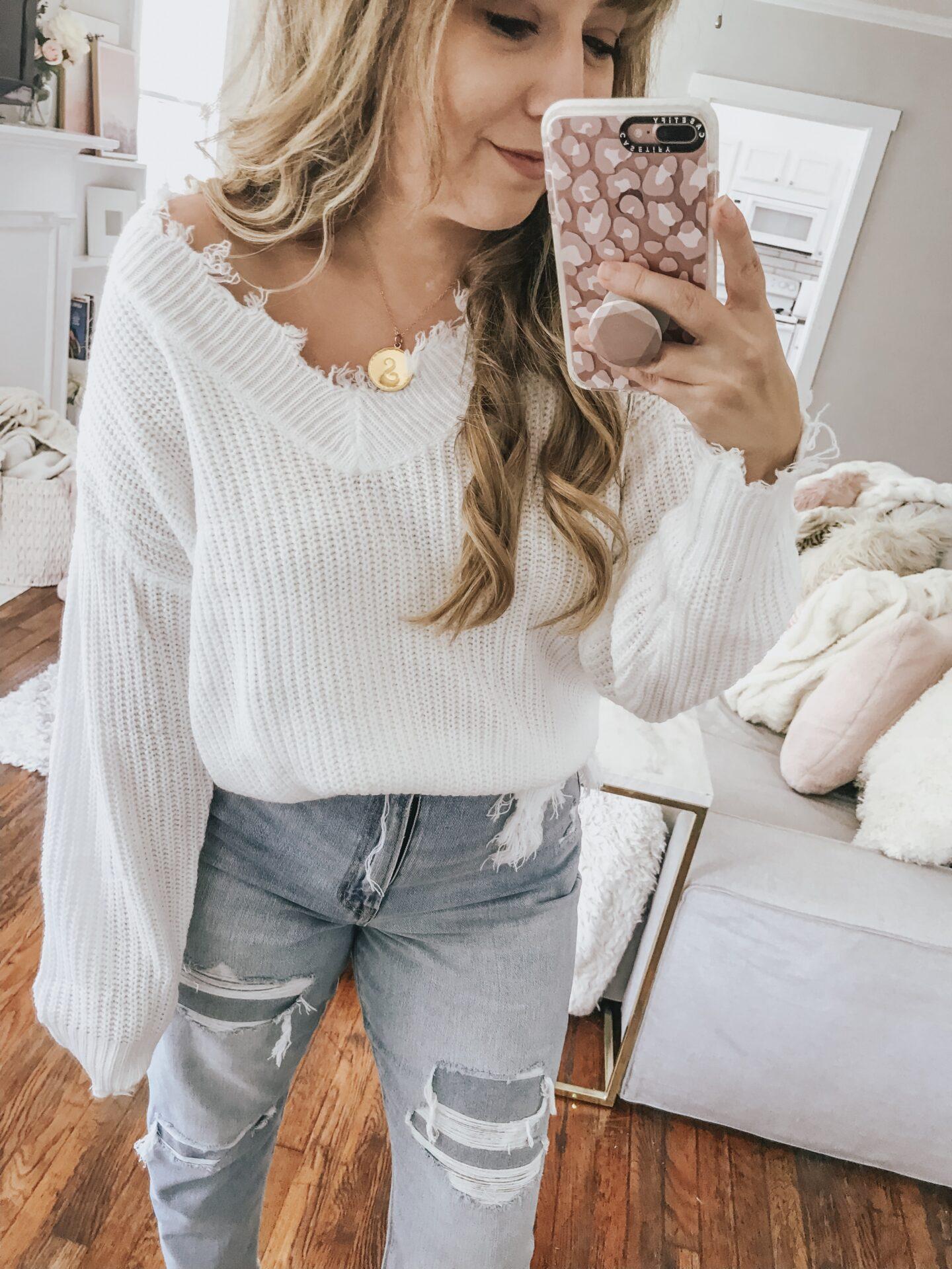 Amazon ripped sweater
