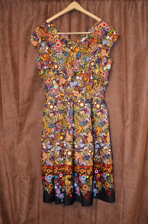 finished vintage border dress