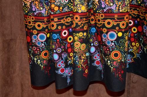 vintage border dress hemline