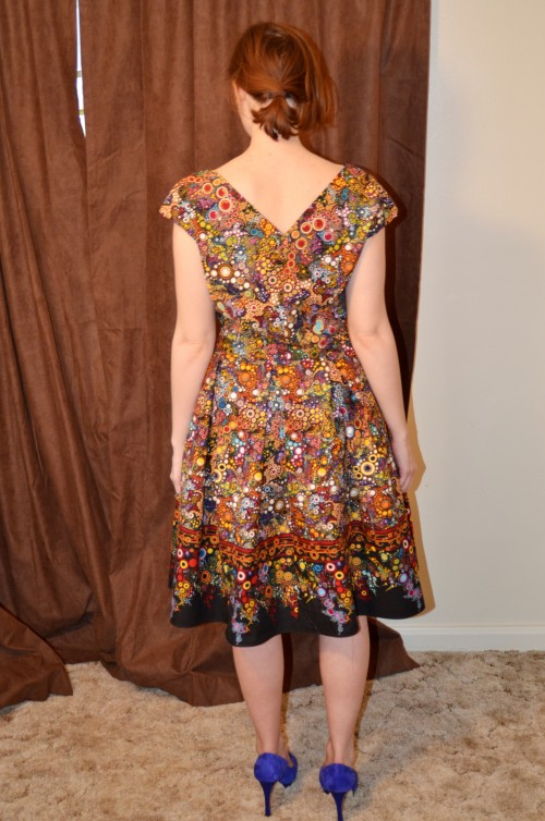 vintage border dress