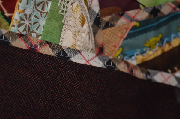 Steampunk crazy quilt detail