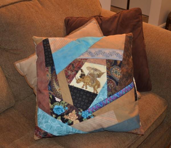 steampunk crazy pillow front