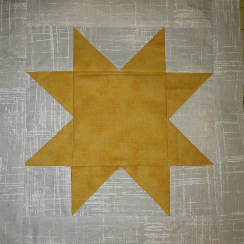 duck quilt star block