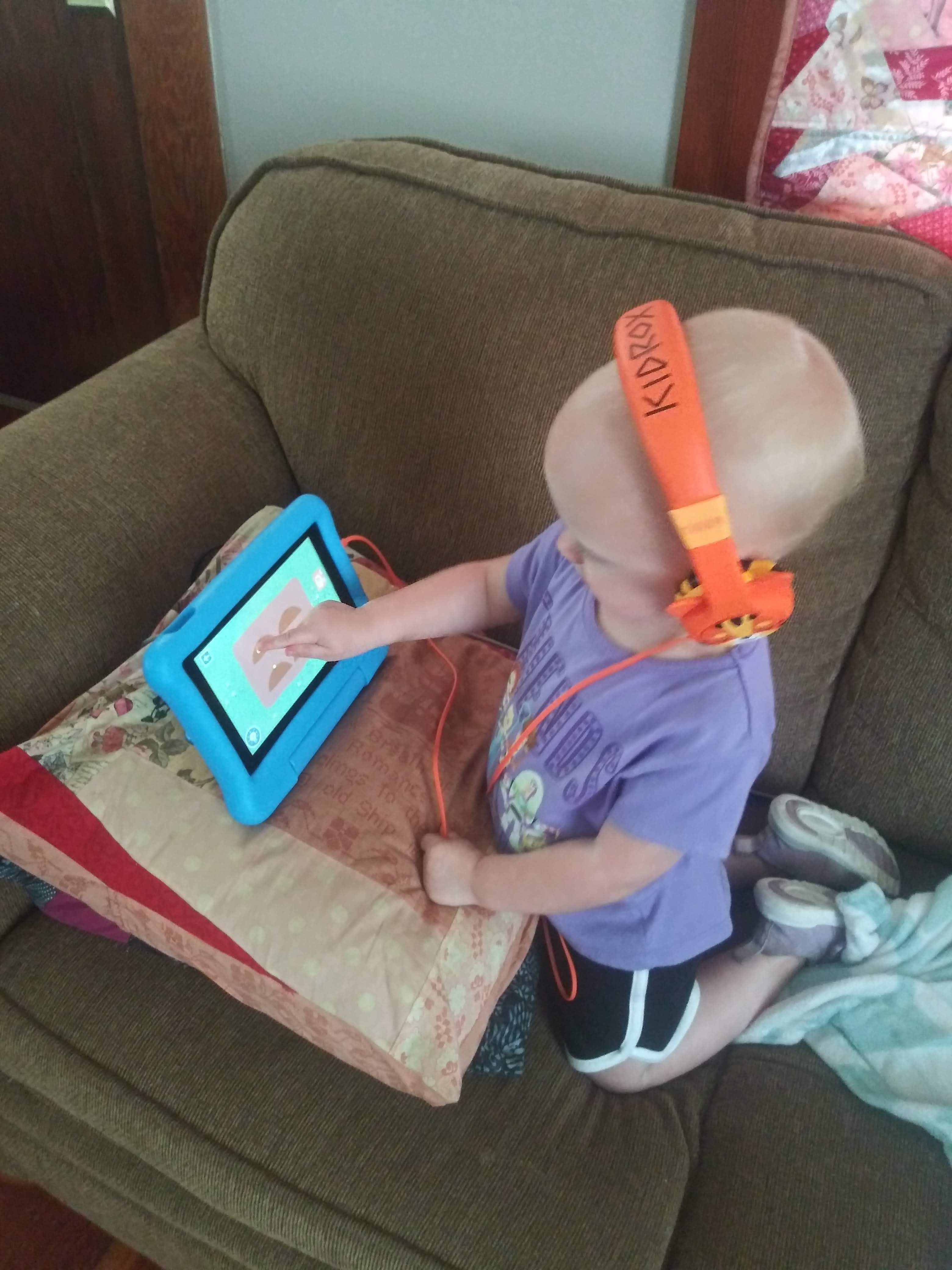 mildred using her tablet