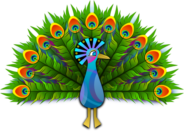 peacock party icon