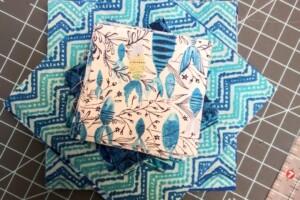 blue fabric for baby communique quilt