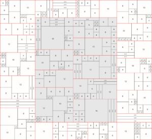 king size communique quilt layout