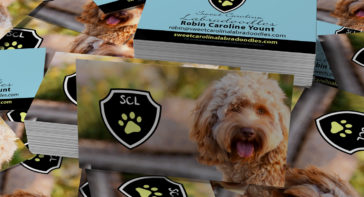 Business Card Design for Dog Breeder