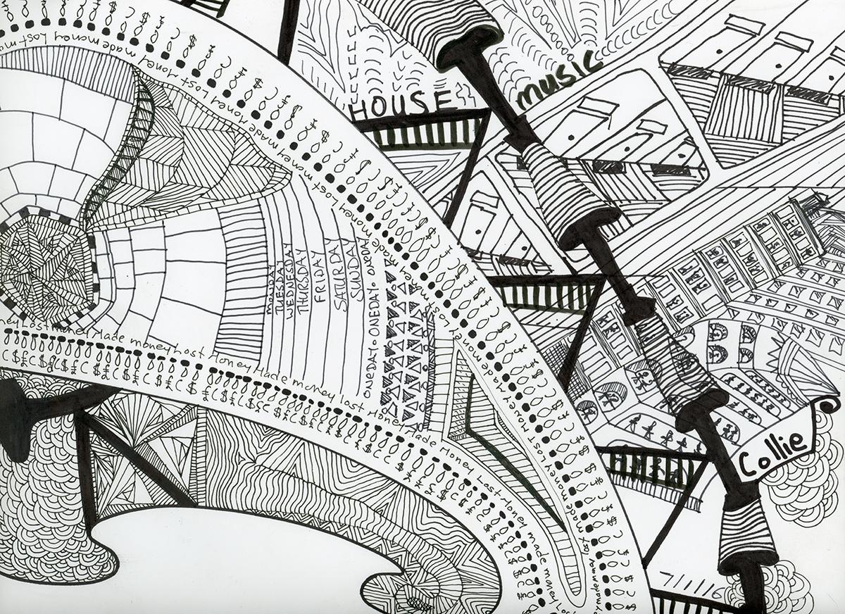 Hand Drawn Illustration - Ink