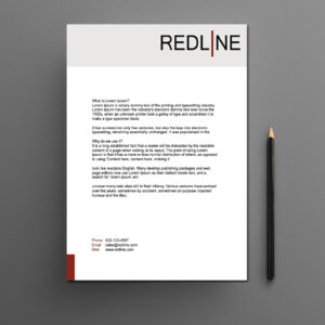 Letterhead Design for MOdern Design Firm