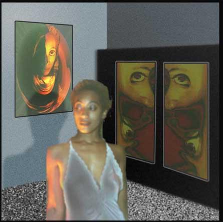 Early digital art by designer Gary Crossey