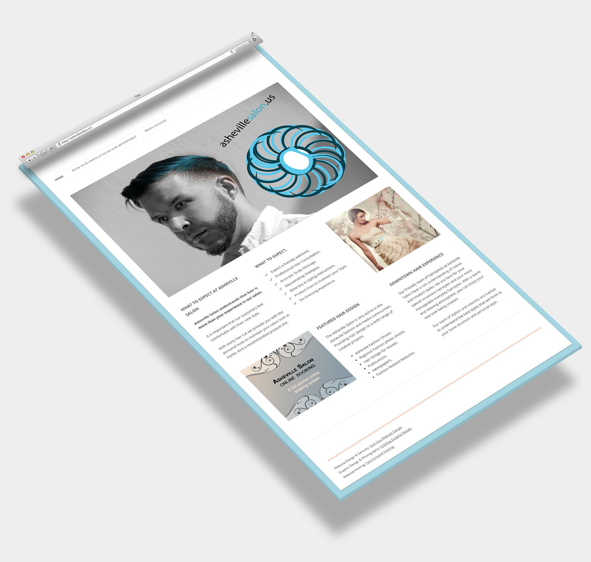 Website Design Asheville Hair Salon