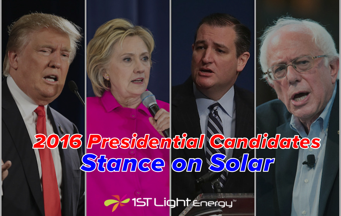 2016 Presidential Candidates Stance on Solar