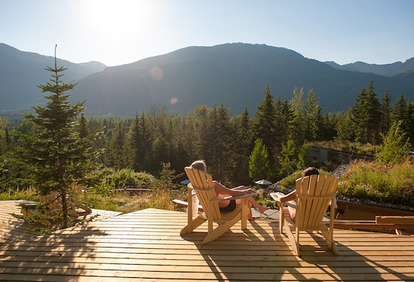 Limited admission guarantees access to quiet relaxation spaces like this one in Whistler.