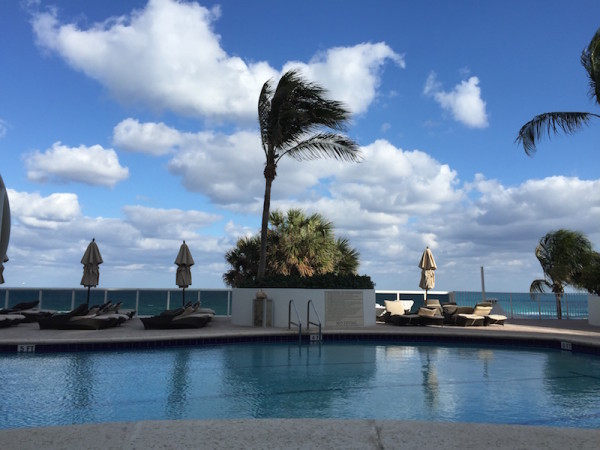 One of the pools overlooking the beach Trump Miami