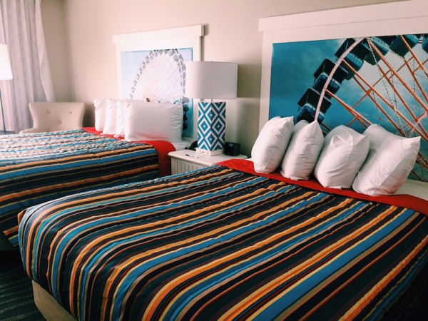 A renovated room at Cedar Point Hotel Breakers