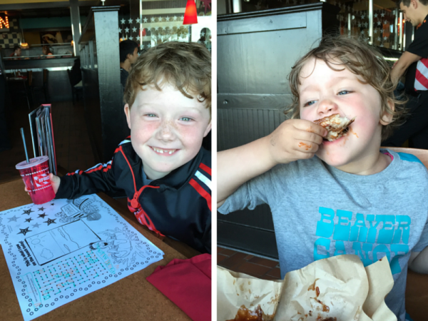 Dining with Kids at TGI Fridays Cedar Point Hotel Breakers