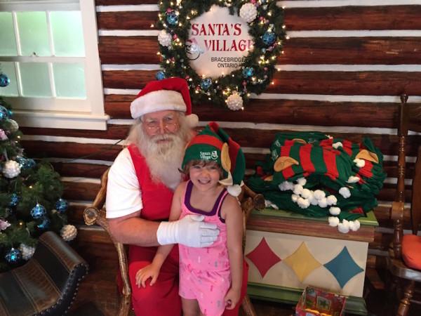 Meeting Santa at Santa's Village in Ontario