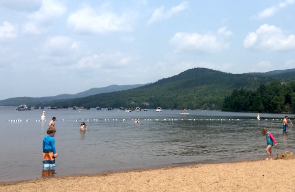 The warmest water in Tremblant is located on the shores of the Beach Club