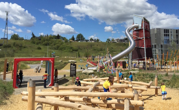 Playing at Telus Spark in Calgary