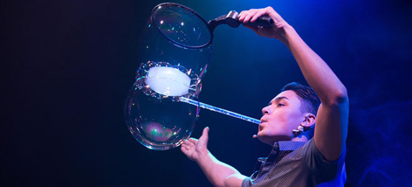 A not to miss when visiting the Trump Soho with Kids is the Gazillion Bubble Show