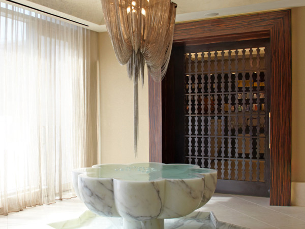 The Entrance to the Spa at the Trump Soho