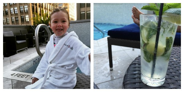 Enjoying the Pool at the Trump Soho with Kids
