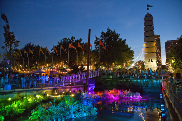 The Delaware River Waterfront Corporation's new Spruce Street Harbor Park offers a summer getaway right in Philly. From June 27 through August 31, visitors can enjoy festivals, concerts and movies on the Great Plaza; relax in one of the giant hammocks in the Hammock Lounge; cool off under the Mist Walk; lounge under an umbrella at the Urban Beach; and indulge in their favorite summer foods and beverages at The Oasis, a series of floating barges accented with a lily pad garden and hang-out area.