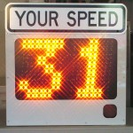 Fast-250 speed sign