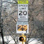 Fast-250 pole mounted speed sign