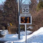 Fast-350 pole mounted traffic data collection signs