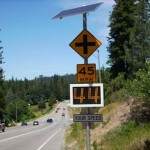 Fast-350 pole mounted traffic data collection sign