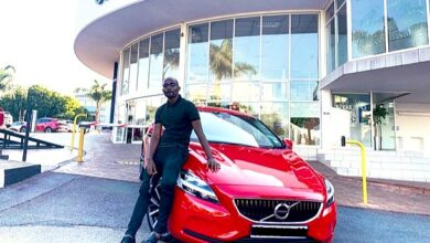Photo of Pics: Drunk Driver Crashes Into Musa Mthombeni's 5 Day Old Car