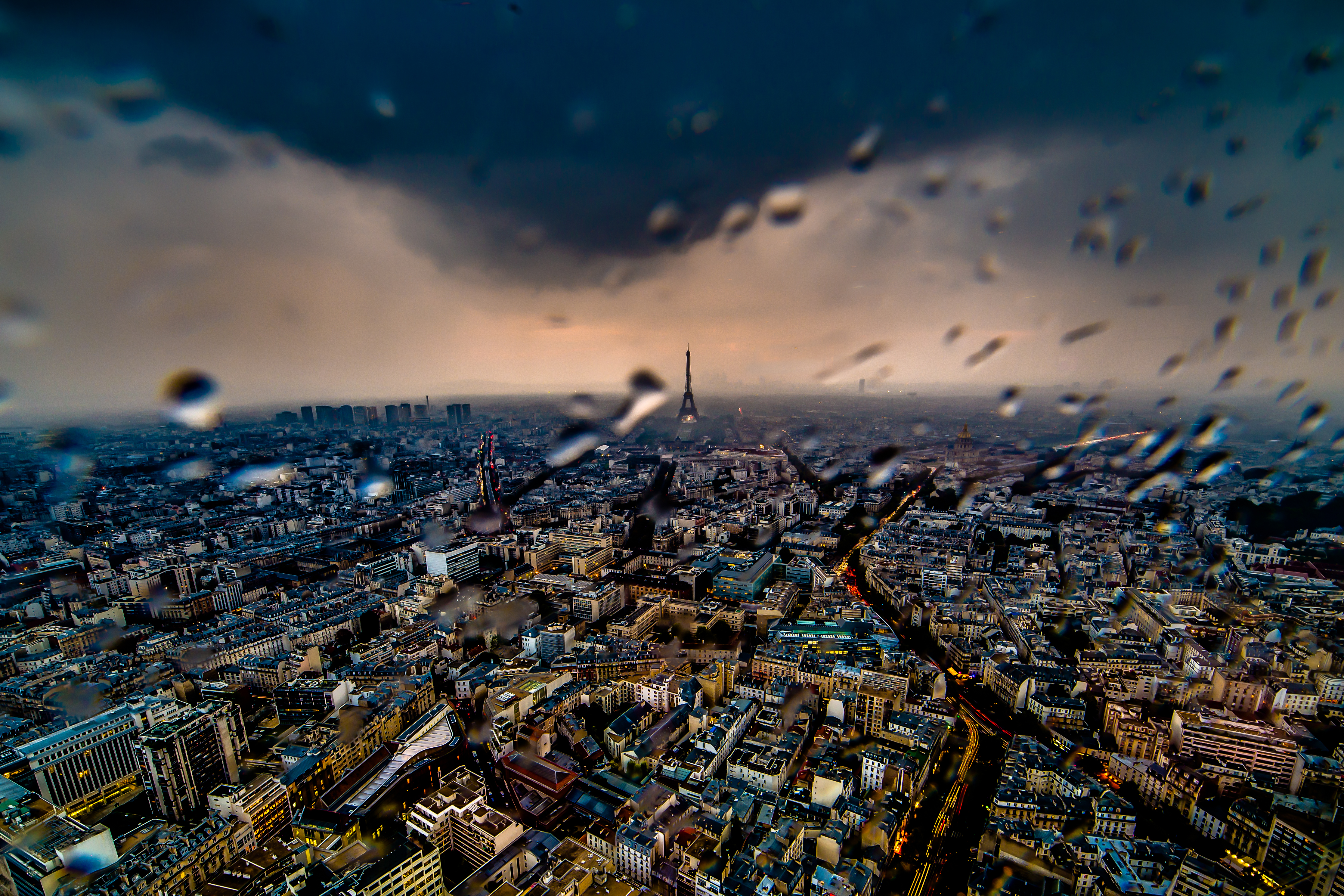 Best places to take pictures in Paris - Rainy Paris Afternoon. Taken from the Tour Montparnasee with a Canon 6D and Rokinon 14mm f/2.8