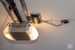 Linear GD00Z-2 Z-Wave Garage Door Tilt Sensor Installed