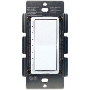 The HomeSeer HS-WD100+ dimmer includes 7 level LED dim indicator status and a air gap switch