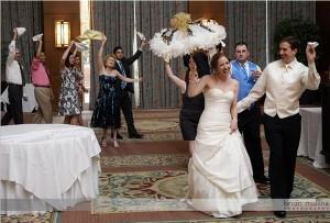 Second Line activity at wedding reception