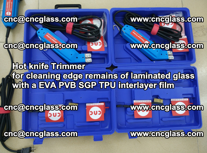 EVA Hot knife Trimmer for cleaning edge remains of laminated glass with a EVA PVB SGP TPU interlayer film (1)