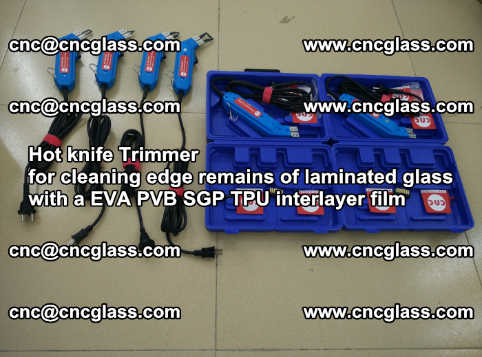 EVA Hot knife Trimmer for cleaning edge remains of laminated glass with a EVA PVB SGP TPU interlayer film (33)