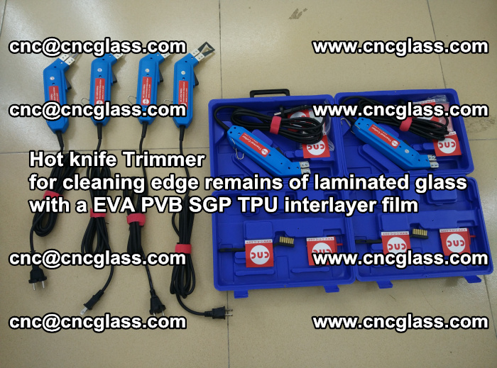 EVA Hot knife Trimmer for cleaning edge remains of laminated glass with a EVA PVB SGP TPU interlayer film (43)