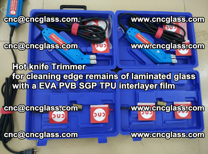 EVA Hot knife Trimmer for cleaning edge remains of laminated glass with a EVA PVB SGP TPU interlayer film (55)