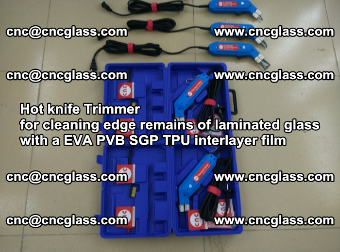 EVA Hot knife Trimmer for cleaning edge remains of laminated glass with a EVA PVB SGP TPU interlayer film (8)