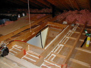 air seal attics insulation
