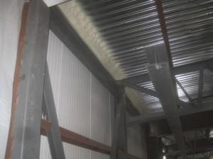 wall to metal roof deck joint seal with closed cell foam