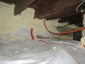 crawlspace_insulation_sprayfoam_fiberglass_vapor barrier_sillband insulation-air-seal_dirt floor_basement insulation_building envelope_energy savings_foundation_western ma_rim band insulation_pioneer valley_easthampton