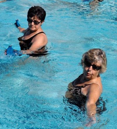Water Aerobics Builds Strength for Seniors