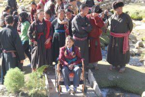 Paraplegic Girl on a wheelchair